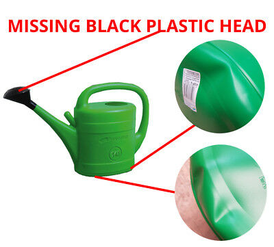 Missing Black Plastic Head Dented 14L Watering Can Rose Garden Plants Water