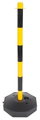 Yellow & Black Plastic Safety Barrier Event Queue Security Fence Post With Base