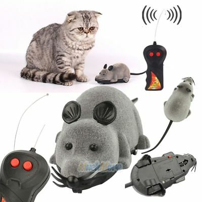 New Remote Control RC Rat Mouse Wireless For Cat Dog Pet Funny Toy Novelty Gift