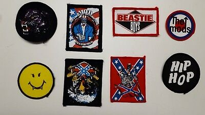 Retro Sew-On Patches of Bands, Artists, Music Genres & Other (Even More Added)