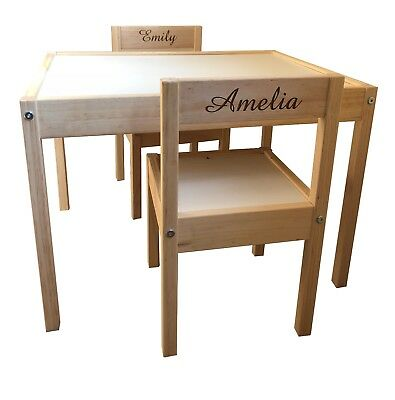 Personalised Childrens Kids Ikea Table and Chairs 2 Names