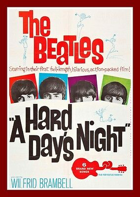 A Hard Days Night    Movie Posters British 1960's Classic & Vintage Films