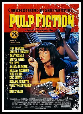 Pulp Fiction 4  Poster Greatest Movies Vintage & Classic Cinema