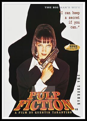 Pulp Fiction 5  Poster Greatest Movies Vintage & Classic Cinema