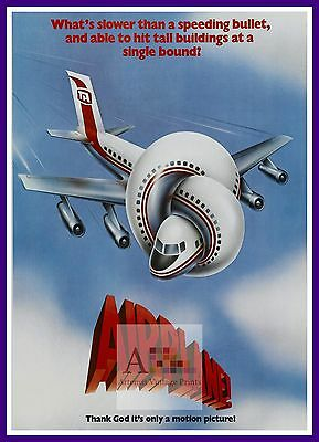 Airplane     Comedy Movie Posters Classic Cinema