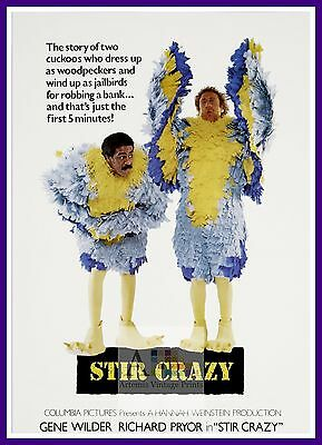 Stir Crazy   Comedy Movie Posters Classic Cinema