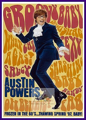 Austin Powers International Man Of Mystery 3 Comedy Movie Posters Classic Cinema