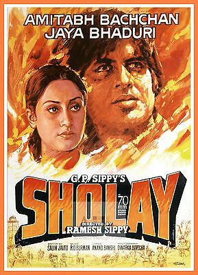 Sholay    Bollywood Movie Posters Vintage Classic Indian Films