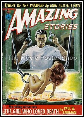 Amazing Stories 31  American Science Fiction Pulp Magazines Vintage Posters