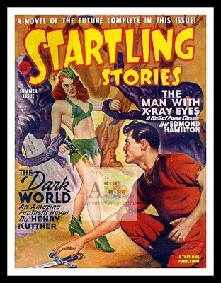 Startling Stories 19   American Science Fiction Pulp Magazines Vintage Posters