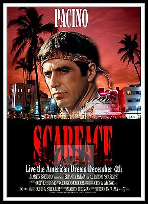 Scarface 4  Poster Greatest Movies Classic & Vintage Films