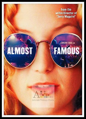 Almost Famous 2  Rock & Roll Movie Posters Classic & Vintage Films