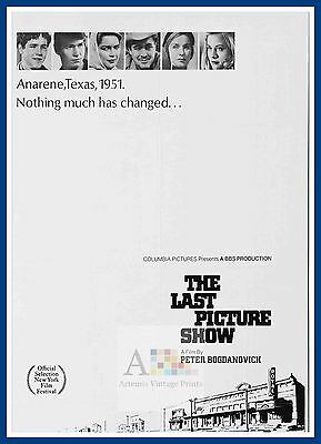 The Last Picture Show  1970's Movie Posters Classic Cinema