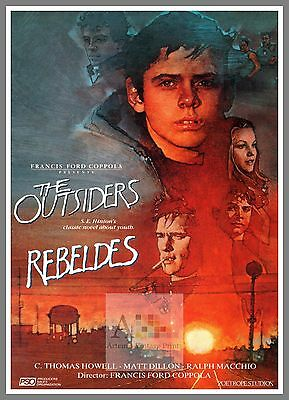 The Outsiders.  1980's Movie Posters Classic Cinema