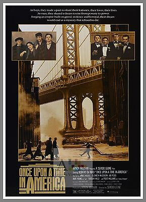 Once Upon A Time In America    1980's Movie Posters Classic Cinema