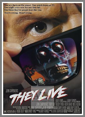 They Live  1980's Movie Posters Classic Cinema