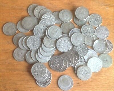 JOB LOT OF 186g OF SILVER .500 SIXPENCES COLLECT RESELL NOT REALLY SCRAP.