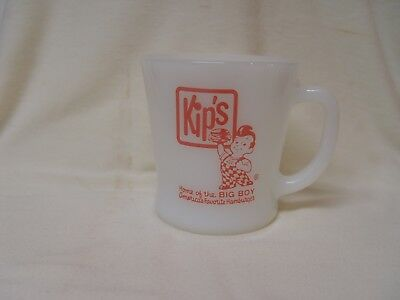 Fire-King Kip's Bob's Big Boy Hamburgers Restaurant Advertising Coffee Mug