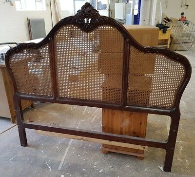 Euro King Size Reproduction Antique Dark Wood Head Board 160cm wide