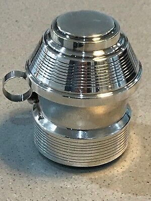 ANTIQUE SILVER PLATED FRENCH MINI COCKTAIL SHAKER + LEMON SQUEEZER DC Turtle