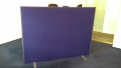 Office divider screen partition, blue fabric, collection only, W 162cm H 120cm