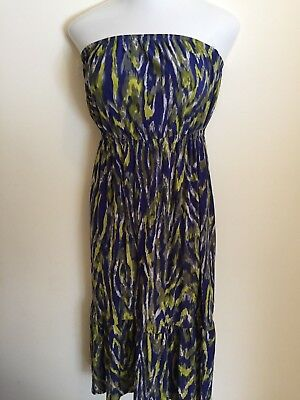 8be0430d56c Ashley Stewart Women s Maxi Dress Size 12 Strapless Multicolored New