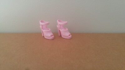 Barbie Doll Light Pink Heeled OT Strap Squishy Pumps Shoes Sandal