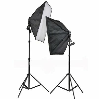 2xFour Lamp Light Softbox Studio Continuous Lighting Kit with 8x80W 5500K