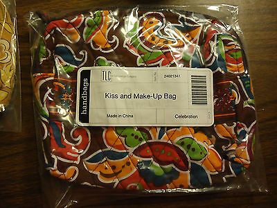 Longaberger Sisters Quilted Celebration Kiss and Make-up Bag--new with tags-SALE