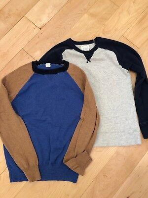 J Crew Crewcuts Boys Size 12 Sweater Cotton/cashmere and Sweatshirt Lot Of Two