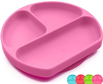 SiliKong Silicone Suction Plate for Toddlers, Dishwasher, Microwave and Oven