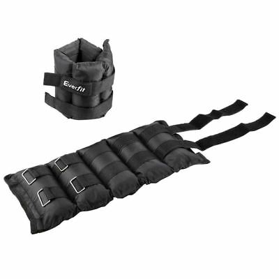 Everfit Set of 2 Wrist Ankle Weights 5kg with Straps
