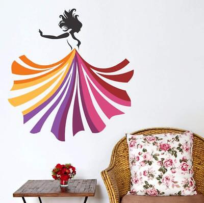 Dancing Girl Wall Decal,Exclusive Design,Wall Art Stickers,Wall Sticker PD5