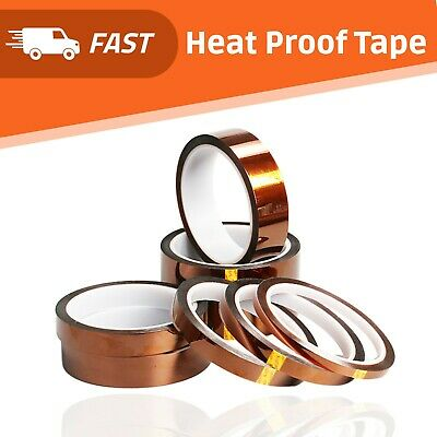 Heat Proof Thermal Heat Resistant Tape Sublimation Adhesive 5/8/10/15mm*33m