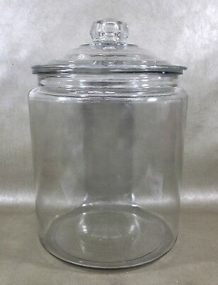Large Vintage Glass Apothecary/Counter Jar Tobbacco/Candy/Sugar With Lid