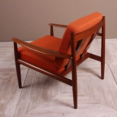 A Pair of Danish Teak Lounge Chairs by Grete Jalk For France & Son