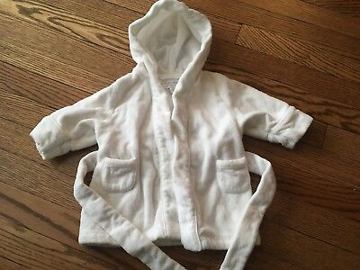 Unisex Baby RALPH LAUREN White Hooded Terry Robe - Size 3 Months
