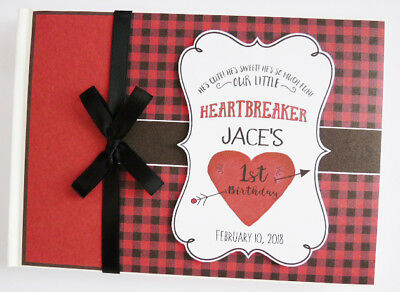 Personalised Little Heartbreaker First/1St Birthday Guest Book - Any Design