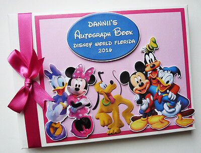 Personalised Disney Clubhouse Girls /first/1St Birthday Guest Book Any Design