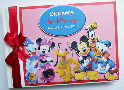 Personalised Disney Clubhouse First/1St Birthday Guest Book - Any Design