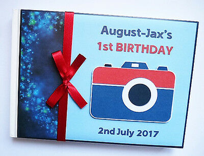 Personalised Camera/photo Boys/girls Birthday Guest Book - Any Design