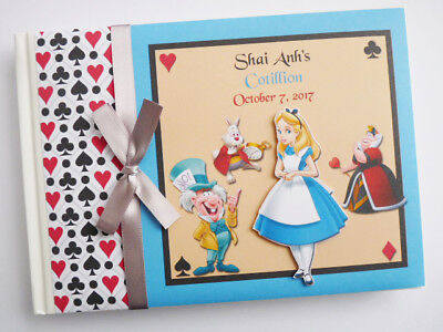 Alice In Wonderland Girls Birthday Guest Book - Any Design