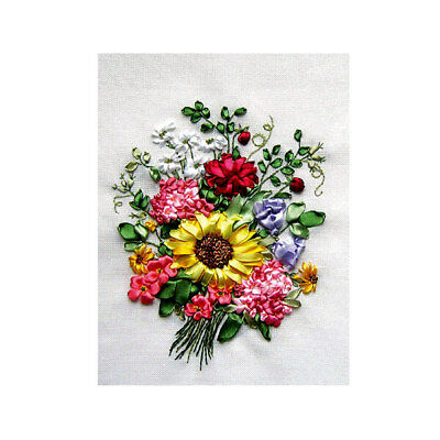 Sunflower Bouquet Ribbon Embroidery Kit