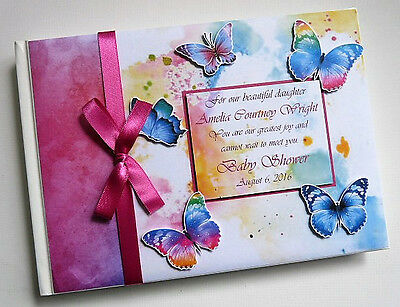 Butterflies Baby Shower/wedding Guest Book - Any Design