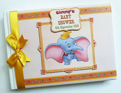 Disney Dumbo Neutral Birthday / Baby Shower Guest Book - Any Design