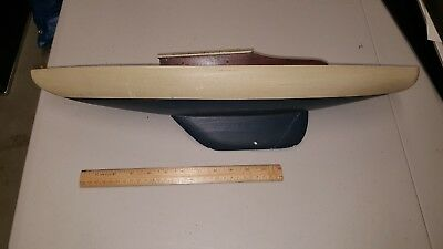 Wooden Boat Pond Boat? Sail Boat? Measures Over 24 Inches Long!