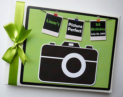 Personalised Camera/photo Boys/girls First/1St Birthday Guest Book - Any Design