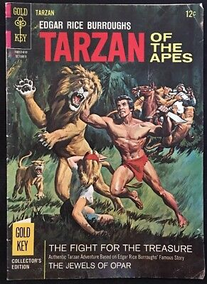 Gold Key Tarzan Of The Apes The Fight For The Treasure Comic Book October 1966