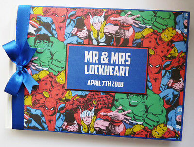 Personalised Comics Wedding/birthday Guest Book - Any Design