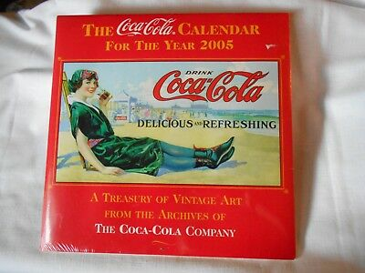 Coca-Cola Calendar New 2005 Pics of Vintage Art from the Archives of The Coca Co